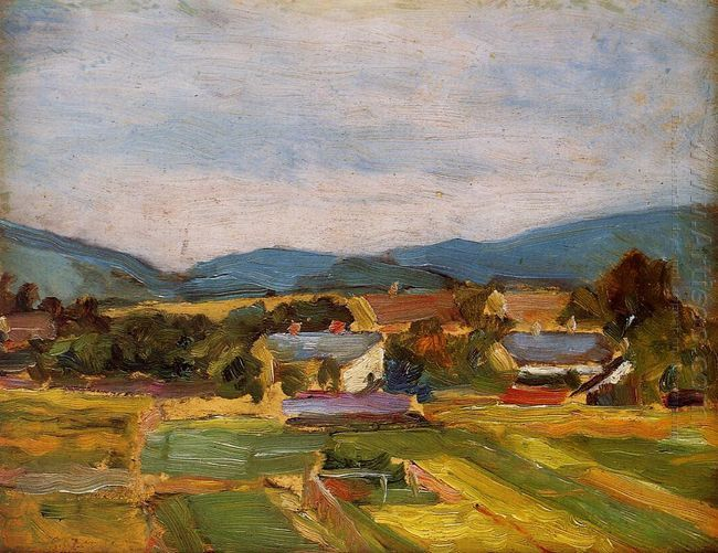 landscape in lower austria 1907