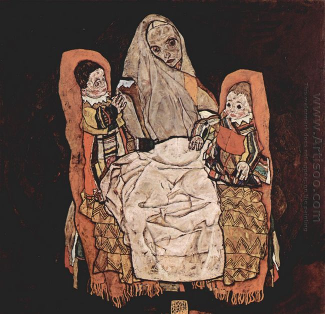 mother with two children 1917