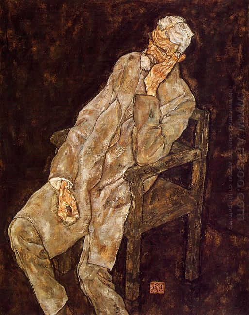 portrait of an old man johann harms 1916