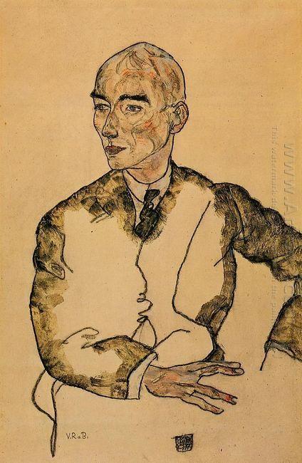portrait of dr viktor ritter von bauer 1917