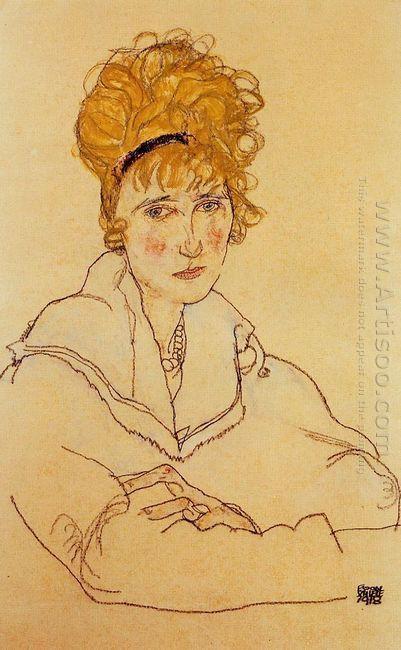 portrait of edith schiele 1918