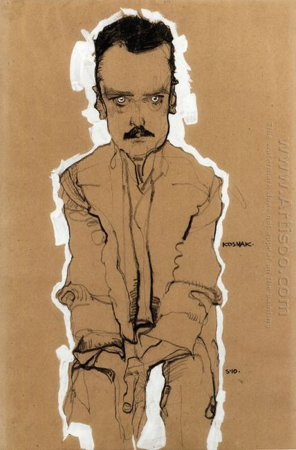 portrait of eduard kosmack frontal with clasped hands 1910