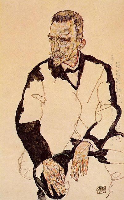 portrait of heinrich benesch 1917