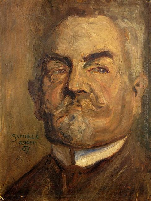 portrait of leopold czihaczek head of a bearded man i 1907