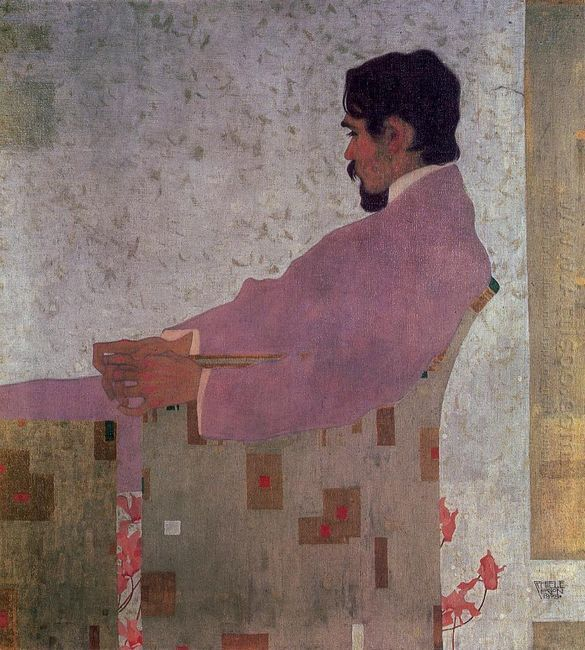 portrait of the painter anton peschka 1909