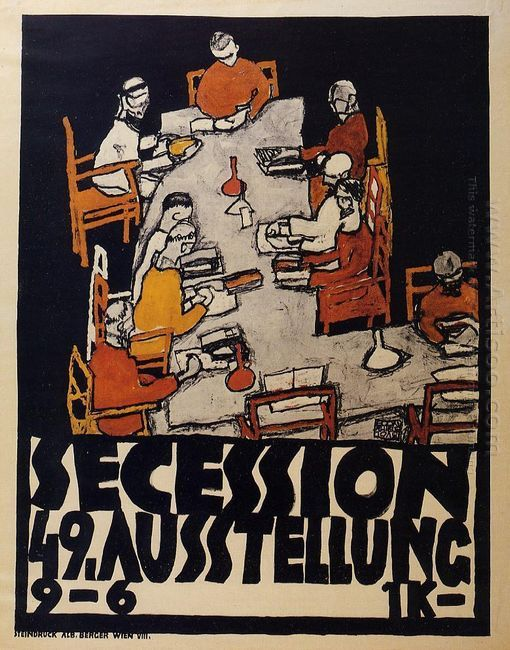 poster for the vienna secession 49th exhibition die freunde 1918
