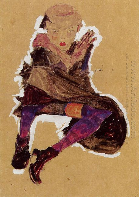 seated young girl 1910