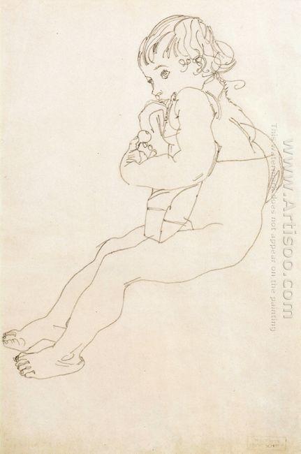 sitting child 1916
