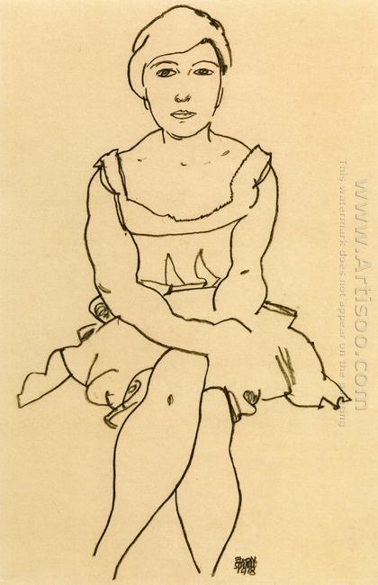 sitting woman 1918
