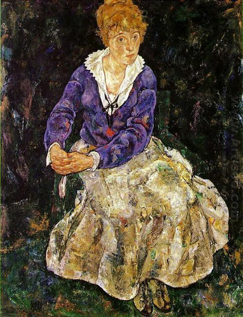 the artist s wife seated 1918