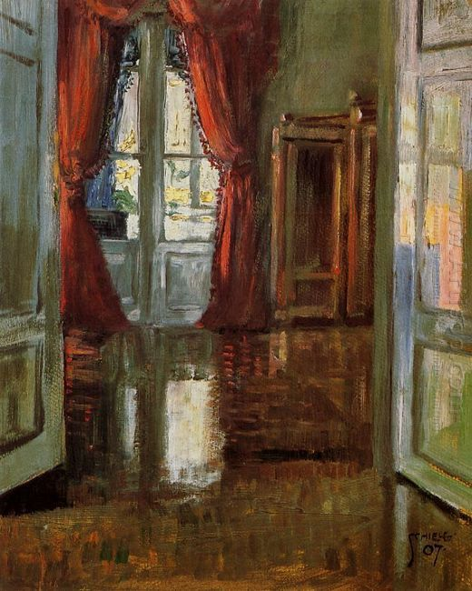 view into the apartment of leopold and marie czihaczek 1907