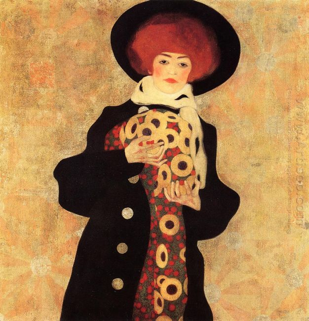 woman with black hat 1909