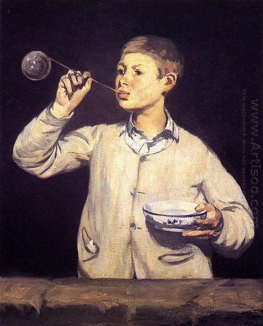 boy blowing bubbles 1869