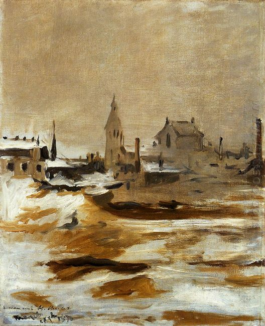 effect of snow at petit montrouge 1870