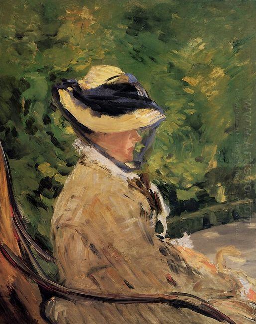 madame manet at bellevue 1880