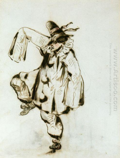 pierrot dancing 1849