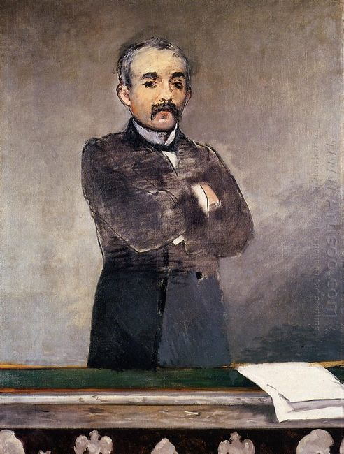 portrait of clemenceau at the tribune 1880