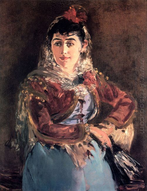 portrait of emilie ambre in role of carmen