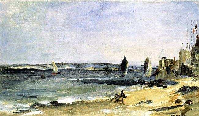 seascape at arcachon arcachon beautiful weather 1871