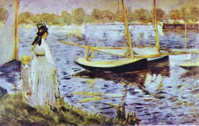 the banks of the seine at argenteuil 1874