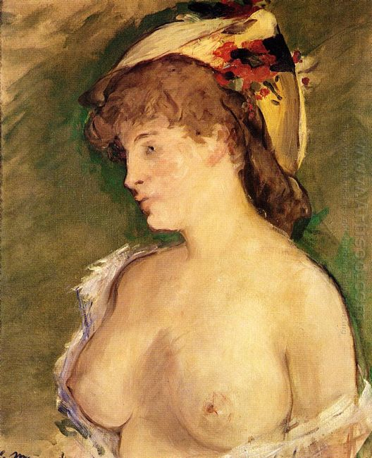 the blonde with bare breasts 1878