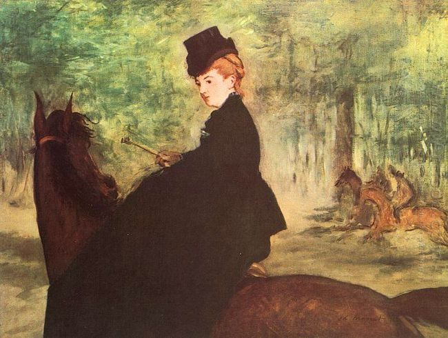 the horsewoman 1875