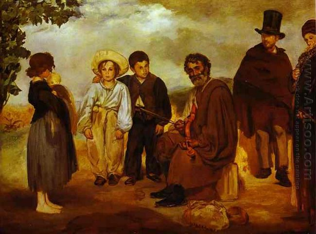 the old musician 1862