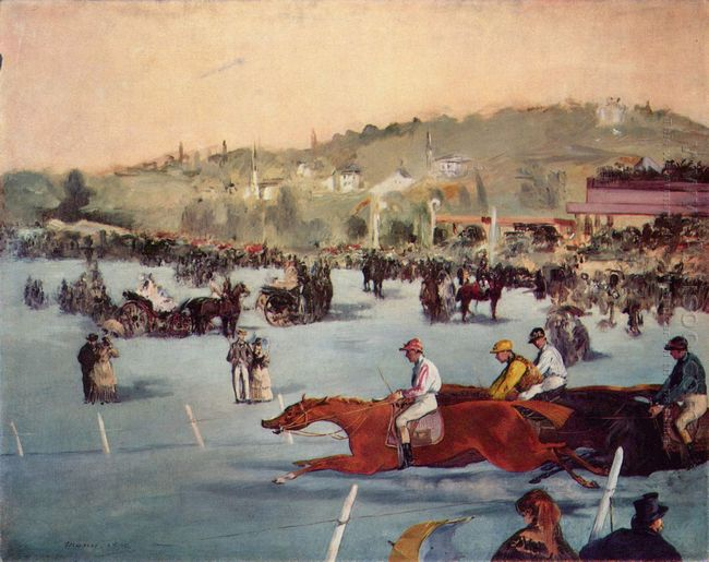 the races in the bois de boulogne 1872