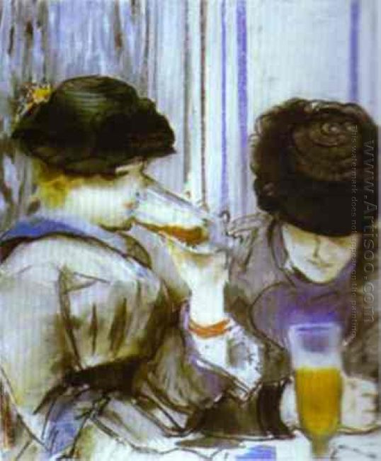 two women drinking bocks 1878
