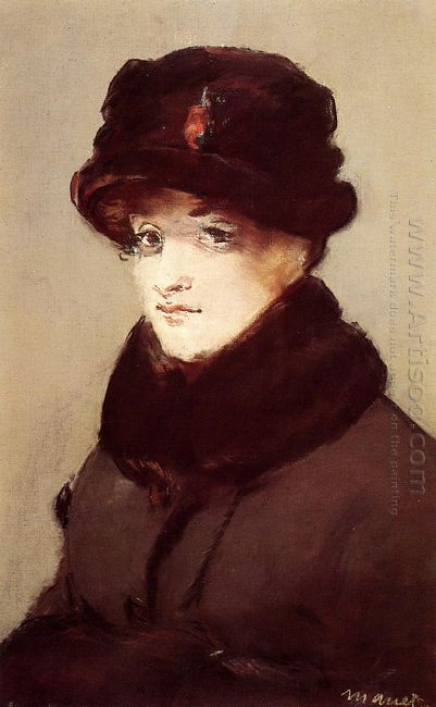 woman in furs portrait of mery laurent 1882