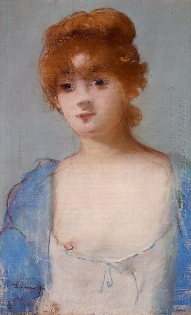 young woman in a negligee 1882