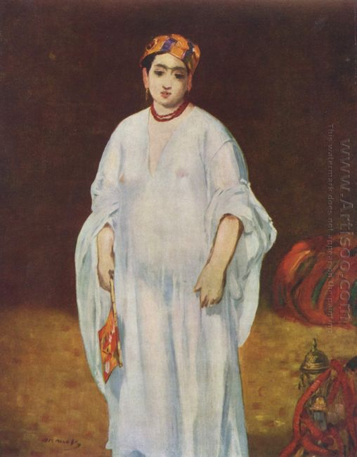 young woman in oriental garb 1871