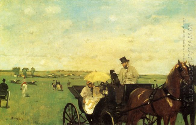 a carriage at the races 1872