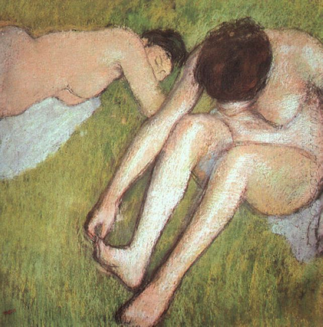bathers on the grass 1890