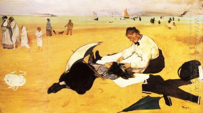 beach scene 1877