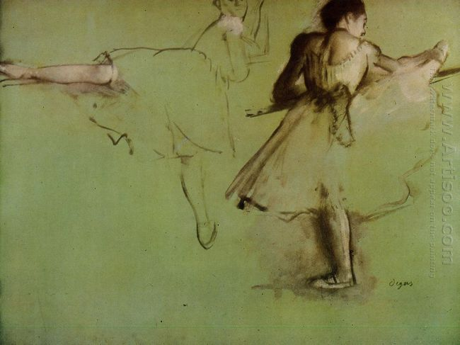dancers at the barre study 1877