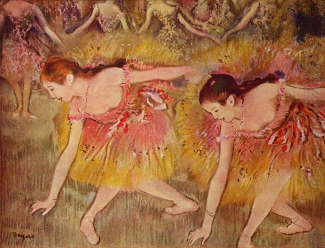 dancers bending down 1885