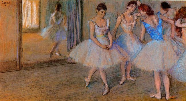 dancers in a studio