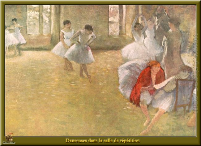 dancers in the rehearsal hall 1895