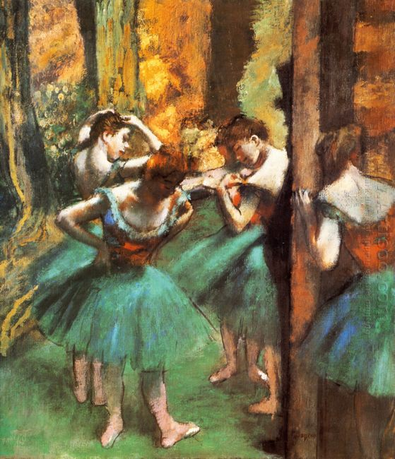 dancers pink and green 1890