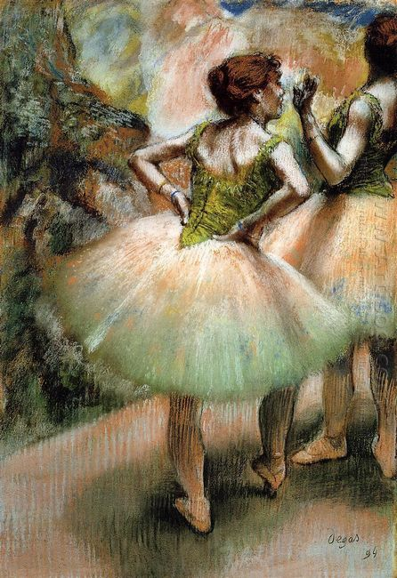 dancers pink and green 1894