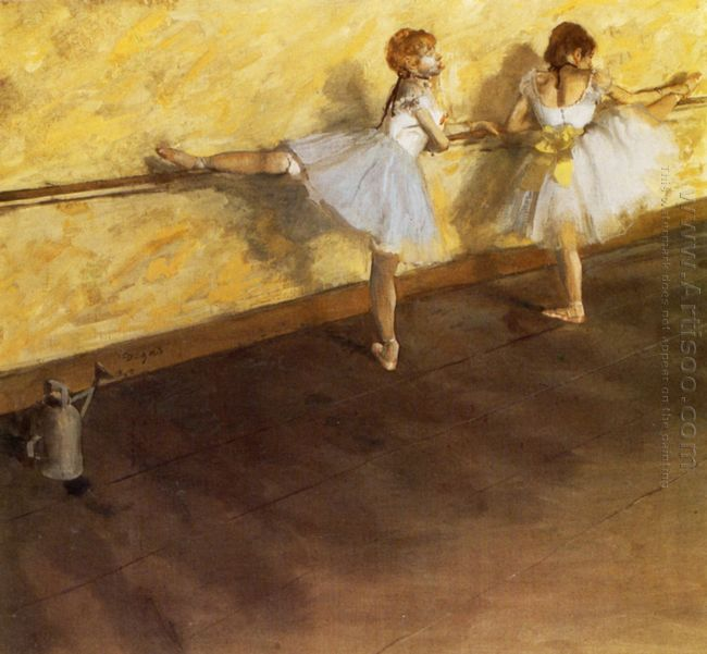 dancers practicing at the barre 1877