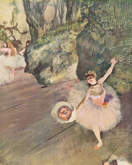dancer with a bouquet of flowers the star of the ballet