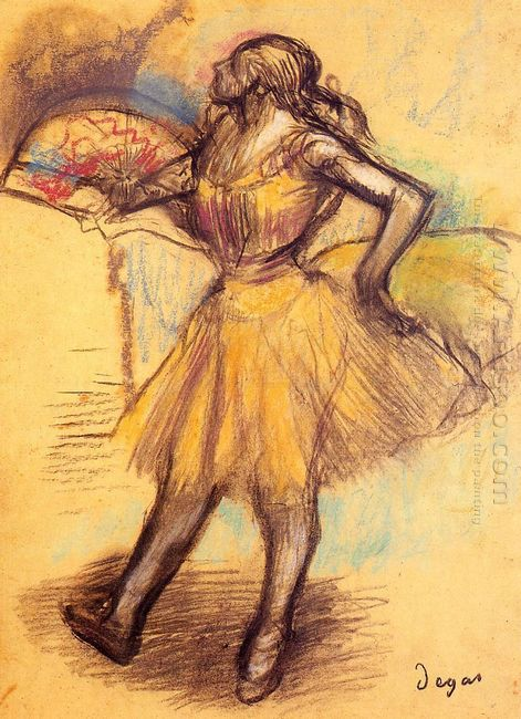 dancer with a fan study