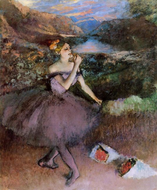 dancer with bouquets