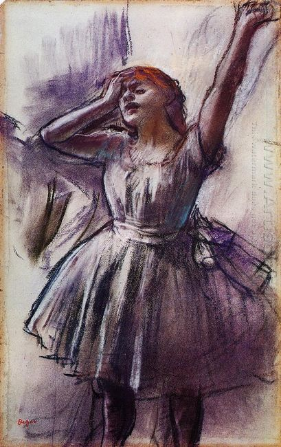 dancer with left arm raised 1887