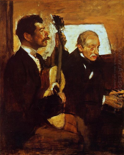degas father listening to lorenzo pagans 1870
