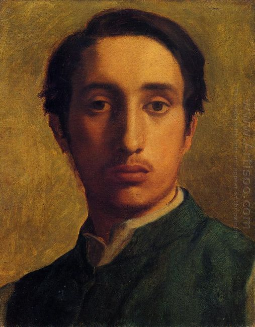 degas in a green jacket 1856