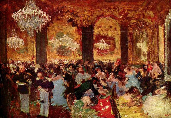dinner at the ball 1879