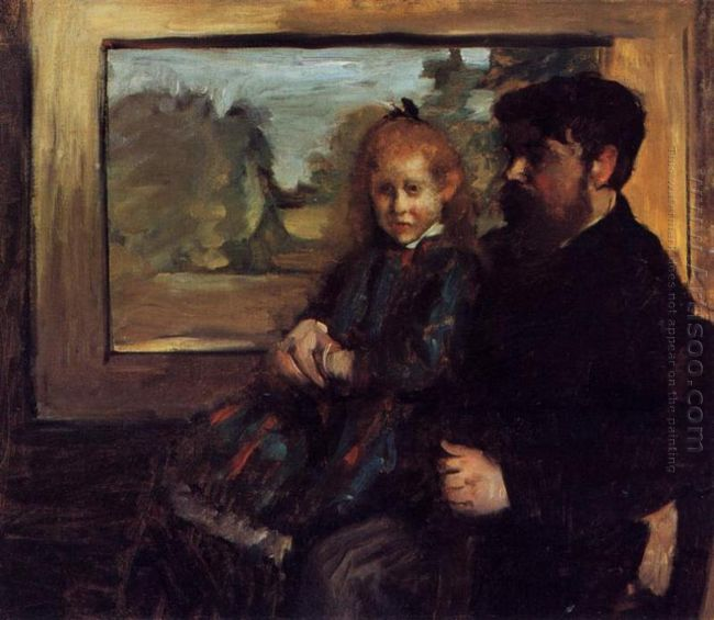 henri rouart and his daughter helene 1872